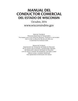 Manual Del Conductor Comercial Del Estado De Wisconsin