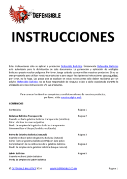 instrucciones - Defensible Ballistics