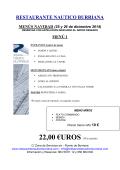 22,00 €UROS - RESTAURANTE NAÚTICO BURRIANA