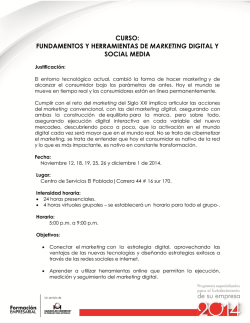 curso: fundamentos y herramientas de marketing digital y social media