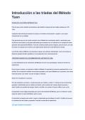 Introducción a las triadas del Método Yuen