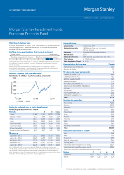 Morgan Stanley Investment Funds European Property Fund
