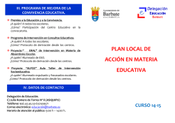 PLAN LOCAL DE ACCIÓN EN MATERIA EDUCATIVA