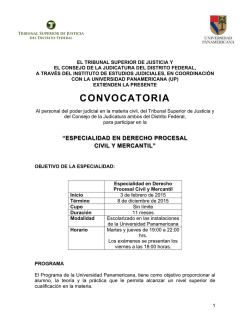 Especialidad en Derecho Procesal Civil y Mercantil - Instituto de