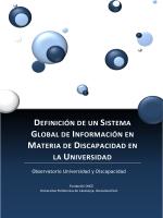 Definición de un sistema global de información en materia de