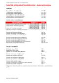 TARIFAS DE PRODUCTOS/SERVICIOS – BANCA PERSONA - HSBC