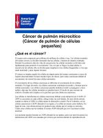Cáncer de pulmón microcítico - American Cancer Society
