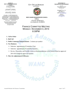 TEMPLATE.Finance Committee Meeting Agenda - The City of Los