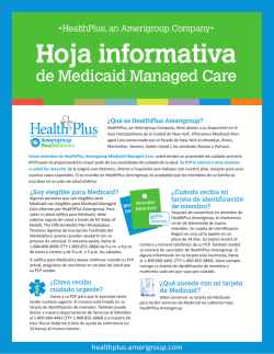 Hoja informativa de Medicaid Managed Care - Amerigroup