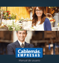 Manual de usuario - Cablemás Empresas