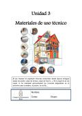 Unidad 3 Materiales de uso técnico