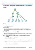 Packet Tracer: Identificación de direcciones MAC y direcciones IP