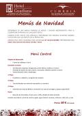 Menus de Navidad - Hotel Guadiana y CUMBRIA 2015