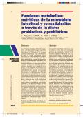 Funciones metabolico- nutritivas de la microbiota intestinal y su