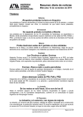 Resumen diario de noticias - UAM. Comunicación Social