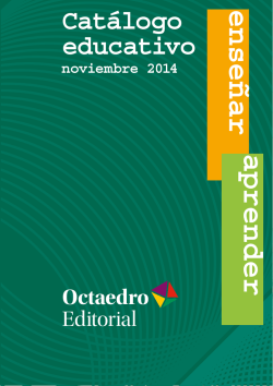 Catálogo educativo - nov. 21014 - Octaedro Editorial