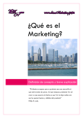 ¿Qué es el Marketing?