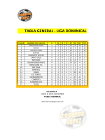 TABLA GENERAL - LIGA DOMINICAL - Torneos Lopez | Inicio