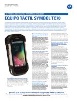 Equipo táctil Symbol TC70 - Motorola Solutions