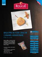 BALLOTIN DE FOIE GRAS DE CANARD, ASSAISONNÉ,