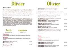 Lunch Almuerzo - Cafe-olivier.be