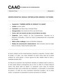Nota de Prensa - Centro Andaluz de Arte Contemporáneo