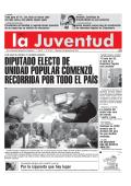 DIPUTADO ELECTO DE UNIDAD POPULAR COMENZÓ