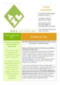 Fechas Importantes - AXL Academy