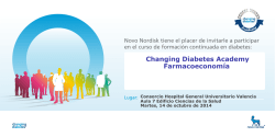 Changing Diabetes Academy Farmacoeconomía - Hospital General