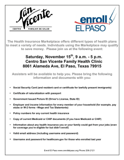 Saturday, November 15 , 9 a.m. - 5 p.m. Centro San Vicente Family