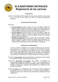 ELS BASTIONS® SKYRACES Reglamento de las carreras