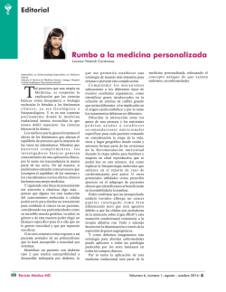 Editorial Rev Med MD 6(1) 2014 Rumbo a la medicina