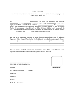 documento de declaración para corporativos - Movistar Colombia