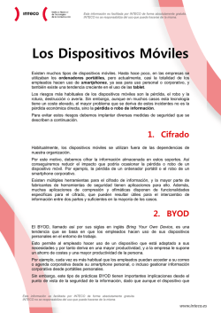 Documento explicativo - bloque IV: Los dispostivos móviles - INCIBE