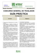 Guía Práctica Concurso General de Traslados - STEC-IC