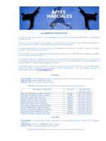 alumnos de artes marciales autorizados por la ley nº - DGMN