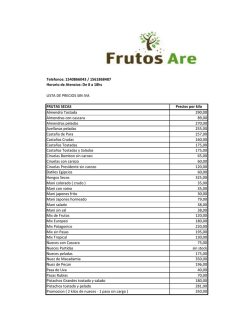 Telefonos: 1540866043 / 1561868487 Horario de - Frutos Are
