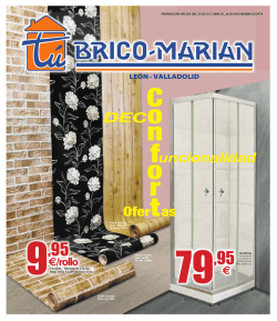 Descarga el folleto en PDF - Tu Brico-Marian