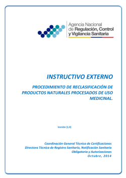 INSTRUCTIVO EXTERNO - Agencia Nacional de Regulación