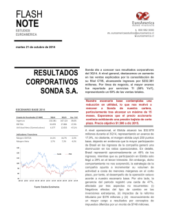 Flash Note: Resultados Corporativos Sonda S.A. 21 - EuroAmerica