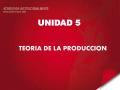Tema 5 Teoria de la Produccion