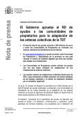 Nota de prensa completa Real Decreto Ayudas - Televisión digital