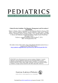 Diagnosis, Management, and Prevention of Bronchiolitis - Pediatrics