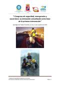 """""""I Congreso de seguridad, emergencias y socorrismo: La - Adeac"""