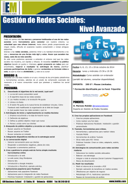 SP REDES SOCIALES AVANZADO.pdf - IEM Business School
