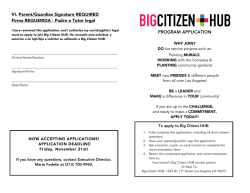 Big Citizen HUB Youth Application