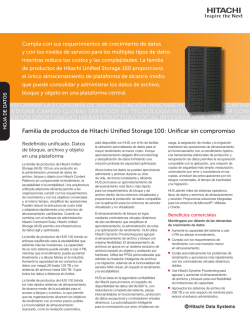 Familia de productos de Hitachi Unified Storage 100 - Hitachi Data