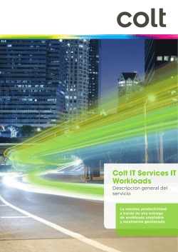 Colt IT Services IT Workloads