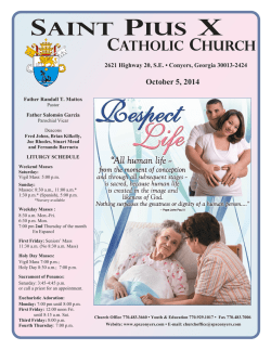 2014-10-05 - St. Pius X Catholic Church