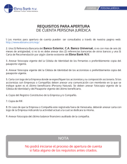Formato y Requisitos de Apertura - ebnanv.com